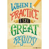 What's Your Mindset? Inspire U™ Poster, When I Practice...