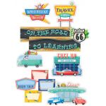 Mid-Century Mod On the Road to Learning Mini Bulletin Board Set