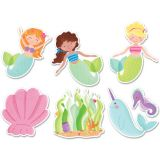Mystical Magical 6 Designer Cut-Outs, Mermaid Fun