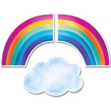 Mystical Magical Rainbows and Clouds 6 Designer Cut-Outs