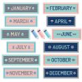 Calm & Cool Months of the Year Mini Bulletin Board