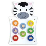 Match Shapes Activity Wall Panel, Zebra
