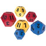 Jumbo Polyhedra Foam Dice, 12-sided