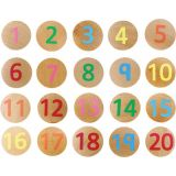 Matching Pairs, Wooden Numbers