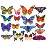 Butterflies III Mini Shaped Puzzle Set, 18 Puzzles