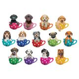 Pups in Cups Mini Shaped Puzzle Set, 13 Puzzles