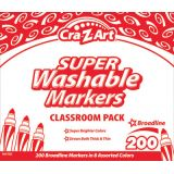 Cra-Z-Art® Washable Broad Line Markers Classroom Pack, 200 count