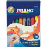 Prang® Soybean Crayons, Regular, 16 colors