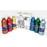 Prang® Washable Ready-to-Use Paint, 16 oz, Metallic, 6 Colors