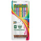 Ticonderoga® Pencils, #2 Soft, Neon Stripes, Presharpened, Pack of 10