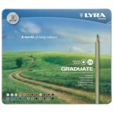 Lyra Graduate Colored Pencils, Metal Box of 24