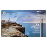 Lyra Graduate Aquarell Colored Pencils, Metal Box of 36