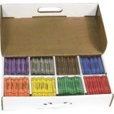 Prang® Crayons, Master Pack, 50 Each of 8 Colors