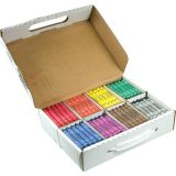 Prang® Crayons, Large, Master Pack, 25 Each of 8 Colors