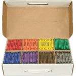 Prang® Soybean Crayons Master Pack, Regular, 800 Count