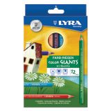 Lyra Color Giant Colored Pencils, 6.25mm, Lacquered, 12 Colors