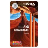 Lyra Graduate Fineliner Markers, Metal Box of 10