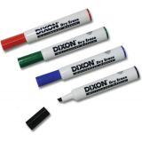 Dixon® Dry Erase Markers Wedge Tip, 4 Color Set