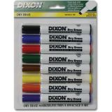 Dixon® Dry Erase Markers Wedge Tip, 8 Color Set