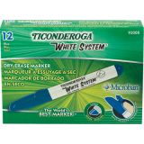 Ticonderoga® Dry Erase Markers, Chisel Tip, Blue, Pack of 12