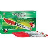 Ticonderoga® Dry Erase Markers, Fine Tip, Red, Pack of 12