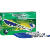 Ticonderoga® Dry Erase Markers, Fine Tip, Blue, Pack of 12
