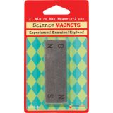 "Alnico Bar Magnets (3""), N/S Stamped, Set of 2"