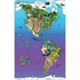 Animal Magnetism® Magnetic Wildlife Map Puzzles, Set of all 3