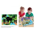 Animal Magnetism® Magnetic Wildlife Map Puzzle, Eurasia & Africa
