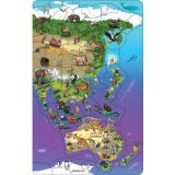 Animal Magnetism® Magnetic Wildlife Map Puzzle, Asia & Australia