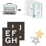 Sizzix® Big Shot™ Alphabet 3 1/2 Capital Letters and Sizzix Framelits Stars Die Starter Set