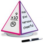 Spin & Write Pyramid™ Rotating 4-Sided Dry-Erase Board