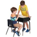 Stackable School Chairs w/Chrome Legs, 10