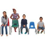 Stackable School Chairs w/Chrome Legs, 16