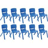 12 Resin Chair - Blue, Case Pack of 10.