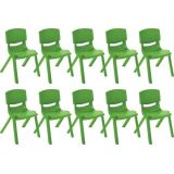 12 Resin Chair - Grassy Green, Case Pack of 10.
