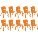 12 Resin Chair - Orange, Case Pack of 10.