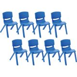14 Resin Chair - Blue, Case Pack of 8.