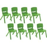 14 Resin Chair - Grassy Green, Case Pack of 8.
