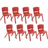 14 Resin Chair - Red, Case Pack of 8.