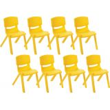 14 Resin Chair - Yellow, Case Pack of 8.