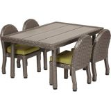 Petite Patio Table with 10 Chairs