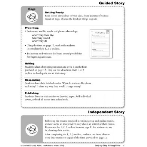 How to Write a Story, Grades 1-3, EMC799