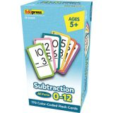 Subtraction Flash Cards, All Facts 0–12