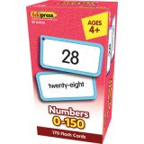 Numbers 0–150 Flash Cards