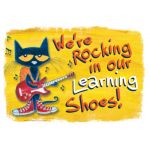 Pete the Cat® We're Rocking in Our Learning Shoes Bulletin Board Set
