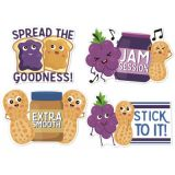 Jumbo Scented Stickers, Peanut Butter & Jelly