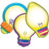 Color My World Light Bulbs Assorted Paper Cut Outs