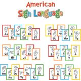 Dr. Seuss™ Sign Language Alphabet Mini Bulletin Board Set