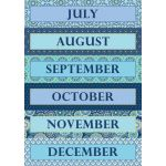 Blue Harmony Calendar Set